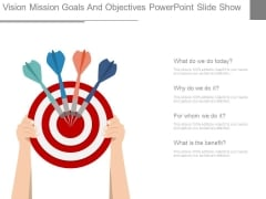 Vision Mission Goals And Objectives Powerpoint Slide Show