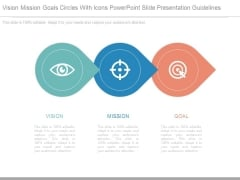 Vision Mission Goals Circles With Icons Powerpoint Slide Presentation Guidelines