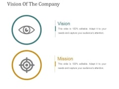 Vision Of The Company Template 1 Ppt PowerPoint Presentation Model Slide Portrait
