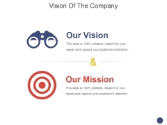 Vision Of The Company Template 2 Ppt PowerPoint Presentation Professional Example Introduction