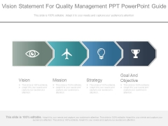Vision Statement For Quality Management Ppt Powerpoint Guide