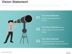 Vision Statement Ppt PowerPoint Presentation Professional
