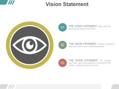 Vision Statement Ppt PowerPoint Presentation Template
