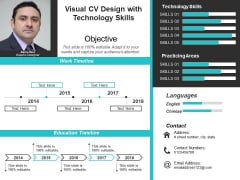 Visual CV Design With Technology Skills Ppt PowerPoint Presentation Pictures Visuals PDF