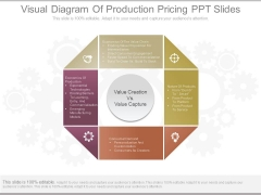 Visual Diagram Of Production Pricing Ppt Slides