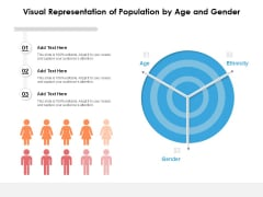 Visual Representation Of Population By Age And Gender Ppt PowerPoint Presentation Pictures Clipart PDF