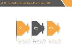 Voc For Customer Feedback Powerpoint Slide