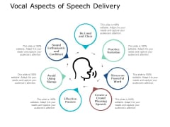 Vocal Aspects Of Speech Delivery Ppt PowerPoint Presentation Portfolio Example File