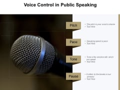 Voice Control In Public Speaking Ppt PowerPoint Presentation Infographic Template Icon