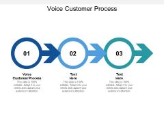 Voice Customer Process Ppt PowerPoint Presentation Icon Graphics Tutorials Cpb