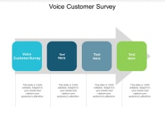 Voice Customer Survey Ppt PowerPoint Presentation Visual Aids Pictures Cpb