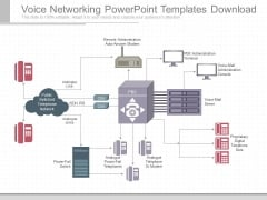 Voice Networking Powerpoint Templates Download