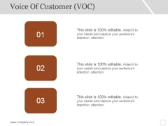 Voice Of Customer Template 2 Ppt PowerPoint Presentation Slides Graphics Template