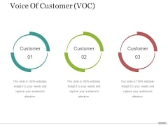 voice of customer voc template 3 ppt powerpoint presentation model summary