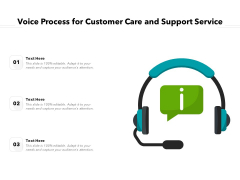 Voice Process For Customer Care And Support Service Ppt PowerPoint Presentation Gallery Background Image PDF