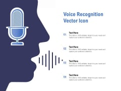 Voice Recognition Vector Icon Ppt PowerPoint Presentation Slides Graphics