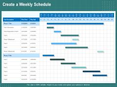Volume Management Create A Weekly Schedule Ppt PowerPoint Presentation Ideas Slides PDF