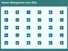 Volume Management Icons Slide Ppt PowerPoint Presentation Icon Backgrounds PDF