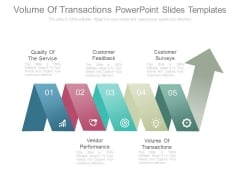 Volume Of Transactions Powerpoint Slides Templates