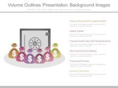 Volume Outlines Presentation Background Images