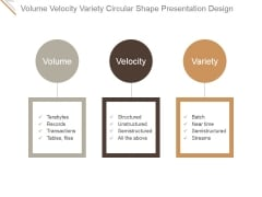 Volume Velocity Variety Circular Shape Ppt PowerPoint Presentation Background Images