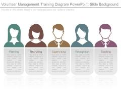 Volunteer Management Training Diagram Powerpoint Slide Background