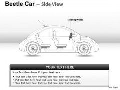 Vacation Red Beetle Car PowerPoint Slides And Ppt Diagram Templates