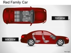 Vacation Red Family Car PowerPoint Slides And Ppt Diagram Templates