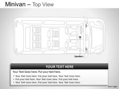 Van Green Minivan Top View Slides And Ppt Diagrams Templates