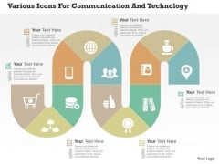 Various Icons For Communication And Technology Presentation Template