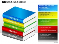Various Languages Books PowerPoint Slides