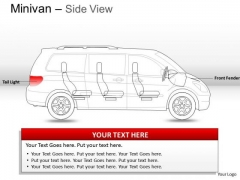 Vehicle Green Minivan Side View PowerPoint Slides And Ppt Diagram Templates