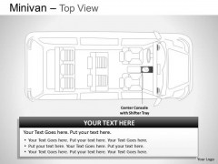 Vehicle Green Minivan Top View PowerPoint Slides And Ppt Diagram Templates