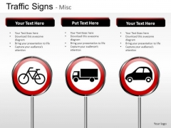 Vehicles Traffic Signs PowerPoint Slides And Ppt Diagram Templates