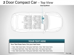 Velocity 2 Door Gray Car Top PowerPoint Slides And Ppt Diagram Templates