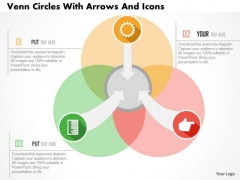 Venn Circles With Arrows And Icons Presentation Template