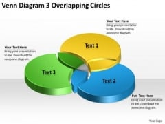 Venn PowerPoint Template Diagram 3 Overlapping Circles