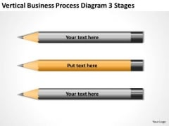 Vertical Business Process Diagram 3 Stages Ppt Planning PowerPoint Slides