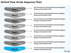 Vertical Flow Arrow Sequence Chart Free Examples Of Business Plans PowerPoint Slides