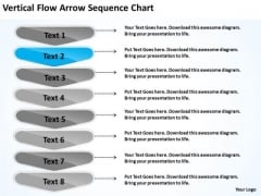 Vertical Flow Arrow Sequence Chart Subway Business Plan PowerPoint Slides