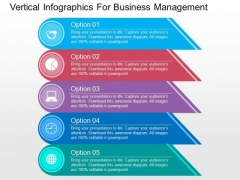 Vertical Infographics For Business Management PowerPoint Templates