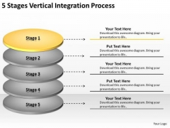 Vertical Integration Process Business Plan For PowerPoint Templates