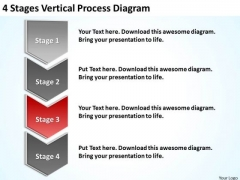Vertical Process Diagram Sample Mission Statements For Business Plan PowerPoint Templates