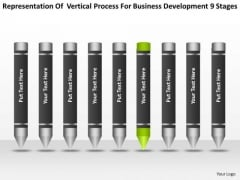 Vertical Process For Business Development 9 Stages Ppt Plan PowerPoint Slides