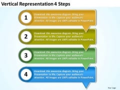 Vertical Representation 4 Steps Business Tech Support PowerPoint Slides