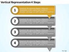 Vertical Representation 4 Steps Flowchart Slides PowerPoint Templates