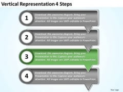 Vertical Representation 4 Steps Ppt Electrical Design PowerPoint Templates
