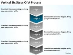Vertical Six Steps Of Process Linear Flow PowerPoint Slides