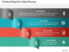 Vertical Steps For Sales Process PowerPoint Template