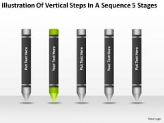 Vertical Steps In Sequence 5 Stages Ppt 2 Free Template For Business Plan PowerPoint Templates